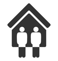 Living Persons Flat Icon vector