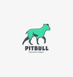 Logo american pit bull mascot cartoon style vector