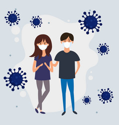 mers-cov covid-19 novel coronavirus 2019-ncov vector image
