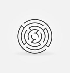 Minimal round maze icon vector