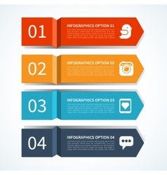 Modern arrow design template for infographics vector image
