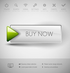 Modern plastic button BUY NOW vector image
