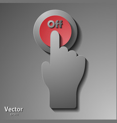 Modern ui button set including switches and push vector
