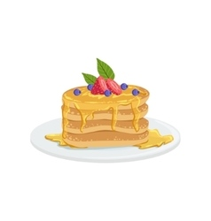 Pancakes european cuisine food menu item detailed vector