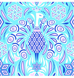 pattern with peacock vector image