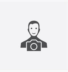 photographer icon vector image