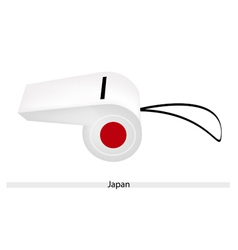 Red Sun on A White Whistle of Japan vector image