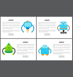 robot set of web pages text vector image
