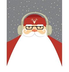 Santa dj vector image