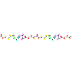 Seamless festive colored glowing garland vector