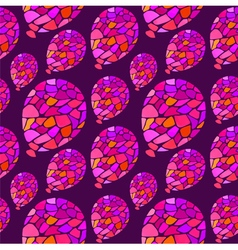 Seamless pattern balloons on purple background vector
