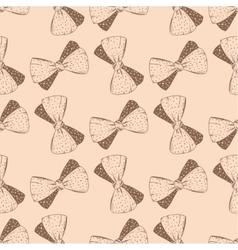 Seamless pattern with hand drawn bow background vector