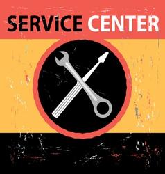 Service Center Retro vector