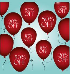 shopping discounts balloons vector image