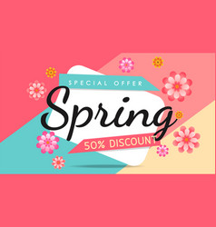 spring color banner vector image