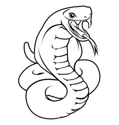 Stylised snake vector
