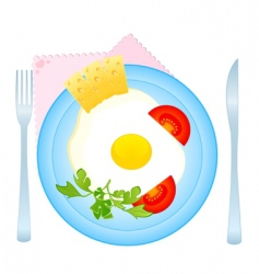 tasty fried eggs vector image