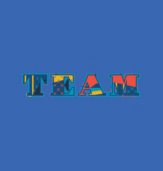 Team concept word art vector