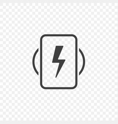 the minimalistic icon of the mobile phone wireless vector image