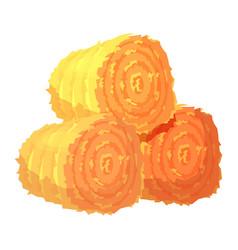Three round hay bales or rolls vector