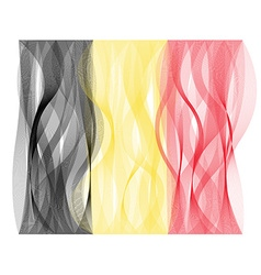 Wave line flag of Belgium vector