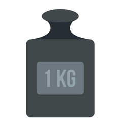weight 1 kg icon isolated vector image