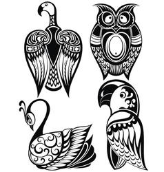 Birds icons vector image