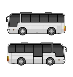 Bus Template Set on White Background vector image vector image