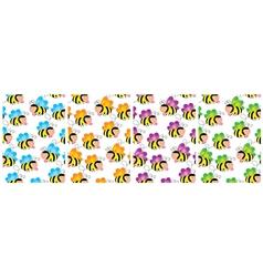 buzzy bee wallpaper vector image vector image