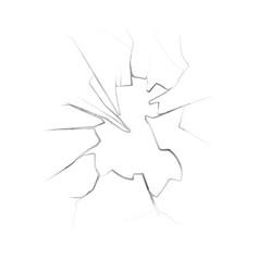 cracks on broken window with cracks vector image vector image