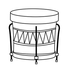 Drum instrument of brazil musical vector