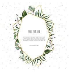 floral wreath with green eucalyptus leaves flower vector image