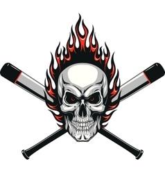 Skull baseball evil vector