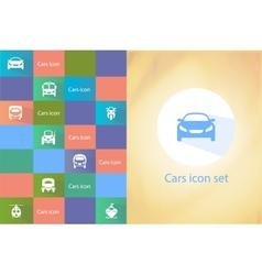 Transports icon set vector image