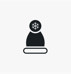 winter hat icon simple winter sign vector image