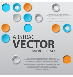 Abstract background with text vector image vector image
