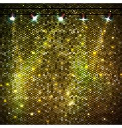 Disco abstract golden neon background vector image vector image