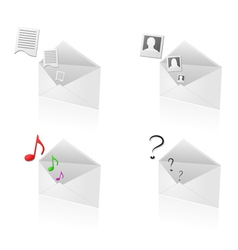 email attachment icons vector image vector image