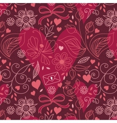 hearts and flowers vector image