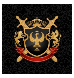 heraldry emblem vector image vector image
