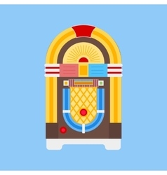 Jukebox Flat Icon vector image vector image