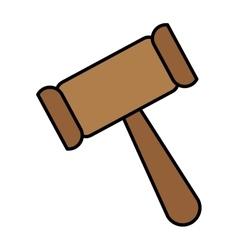 law gavel icon vector image