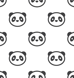 panda seamless pattern vector image