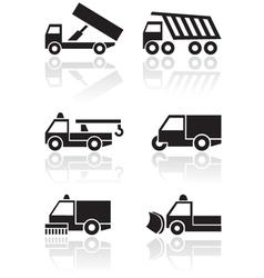 truck van symbol set vector image vector image