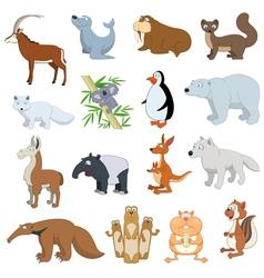 Various Wildlife Animals set vector image vector image