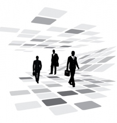 walking business people vector image vector image