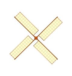 Wooden windmill in retro design vector image vector image