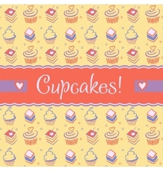 Advertising sweets confectionery logo vector image vector image