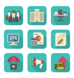 Business Costs Icons vector image vector image