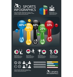 infographic spots set vector image vector image